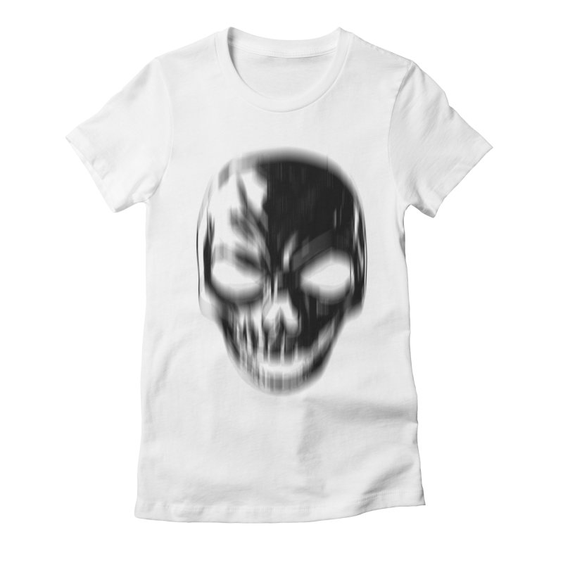 Blurred Skullines Women's Fitted T-Shirt by Matthew, Mark, Luke, & John's Artist Shop
