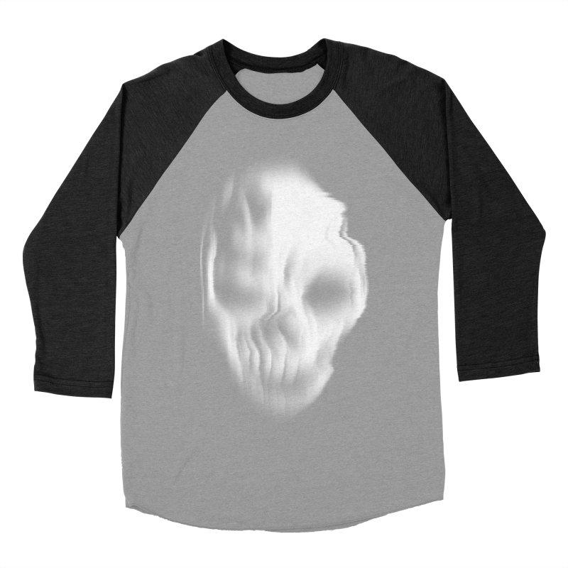 Blurred Skullines II Men's Baseball Triblend T-Shirt by Matthew, Mark, Luke, & John's Artist Shop