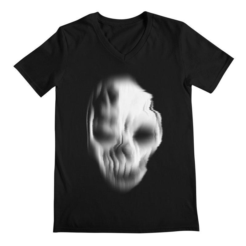 Blurred Skullines II Men's V-Neck by Matthew, Mark, Luke, & John's Artist Shop