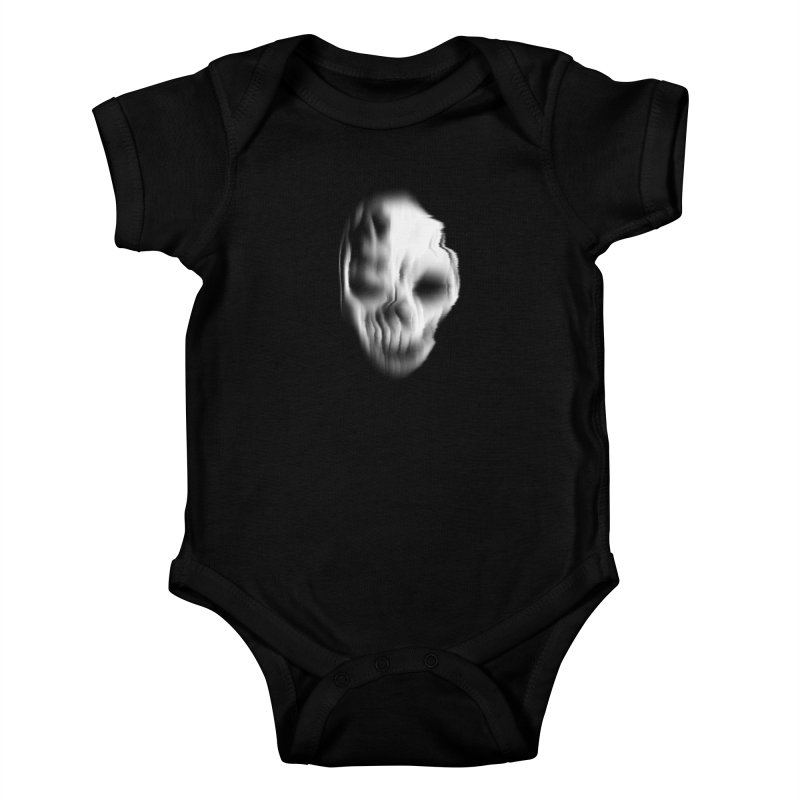 Blurred Skullines II Kids Baby Bodysuit by Matthew, Mark, Luke, & John's Artist Shop
