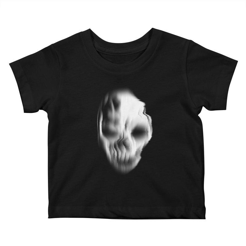 Blurred Skullines II Kids Baby T-Shirt by Matthew, Mark, Luke, & John's Artist Shop
