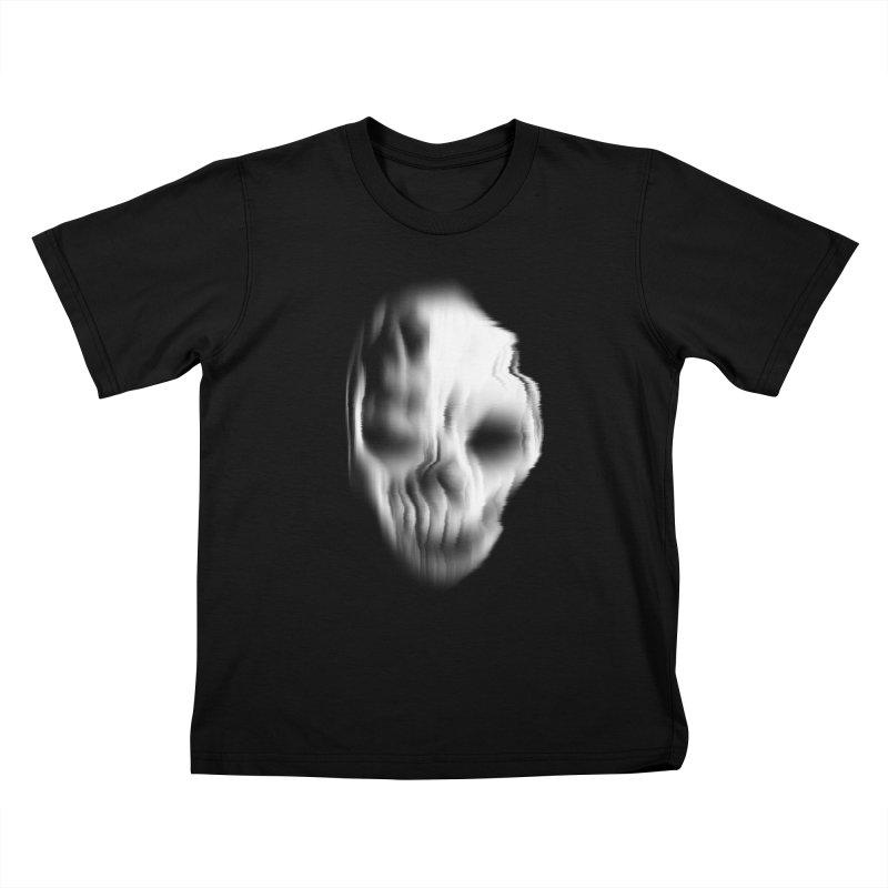 Blurred Skullines II Kids T-Shirt by Matthew, Mark, Luke, & John's Artist Shop