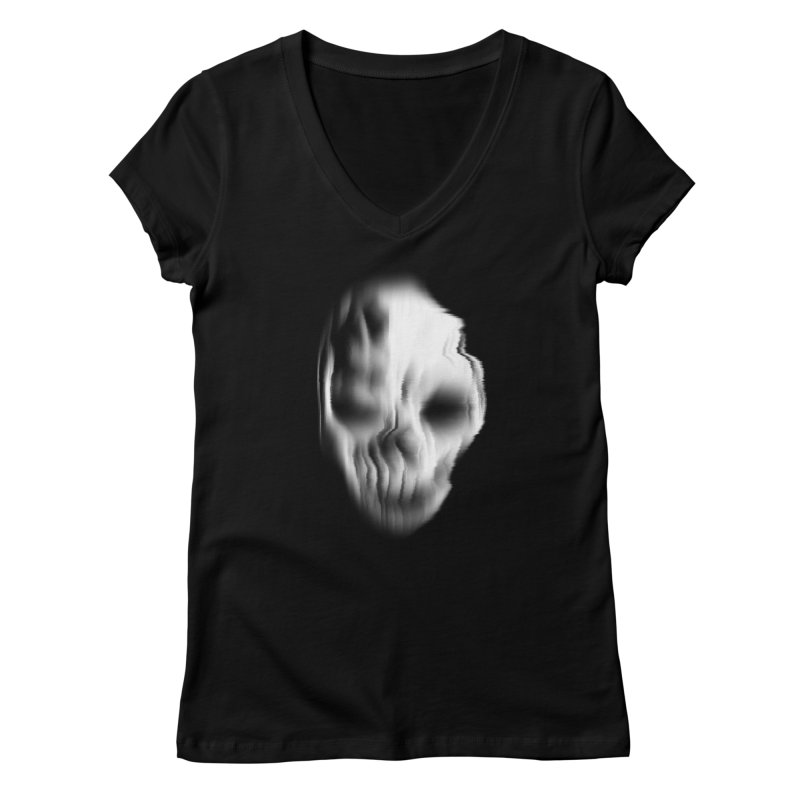 Blurred Skullines II Women's V-Neck by Matthew, Mark, Luke, & John's Artist Shop