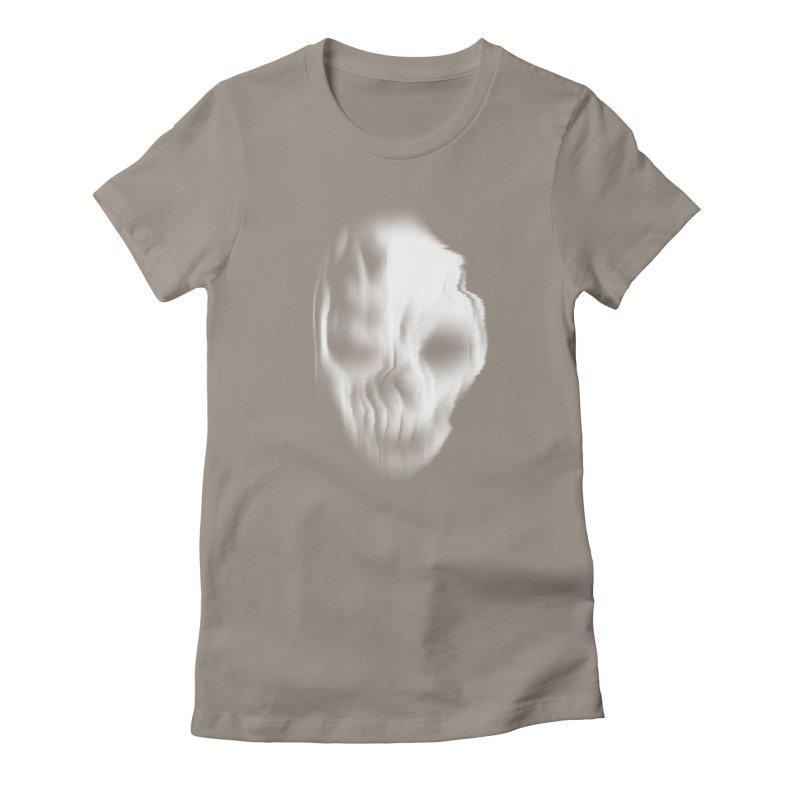 Blurred Skullines II Women's Fitted T-Shirt by Matthew, Mark, Luke, & John's Artist Shop