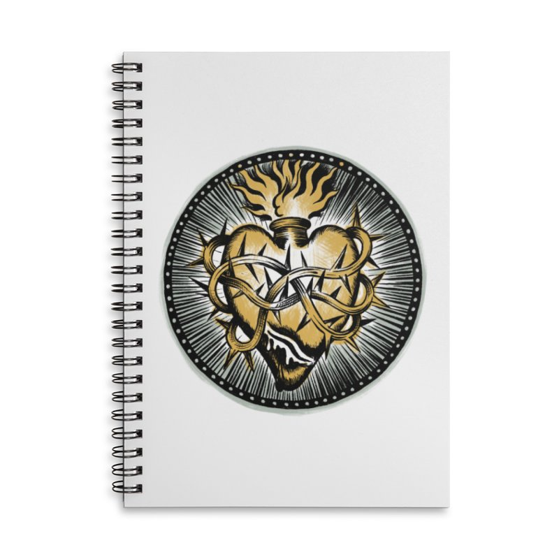 Sacred Heart - Matt Howse Accessories Notebook by Matt Howse's Artist Shop