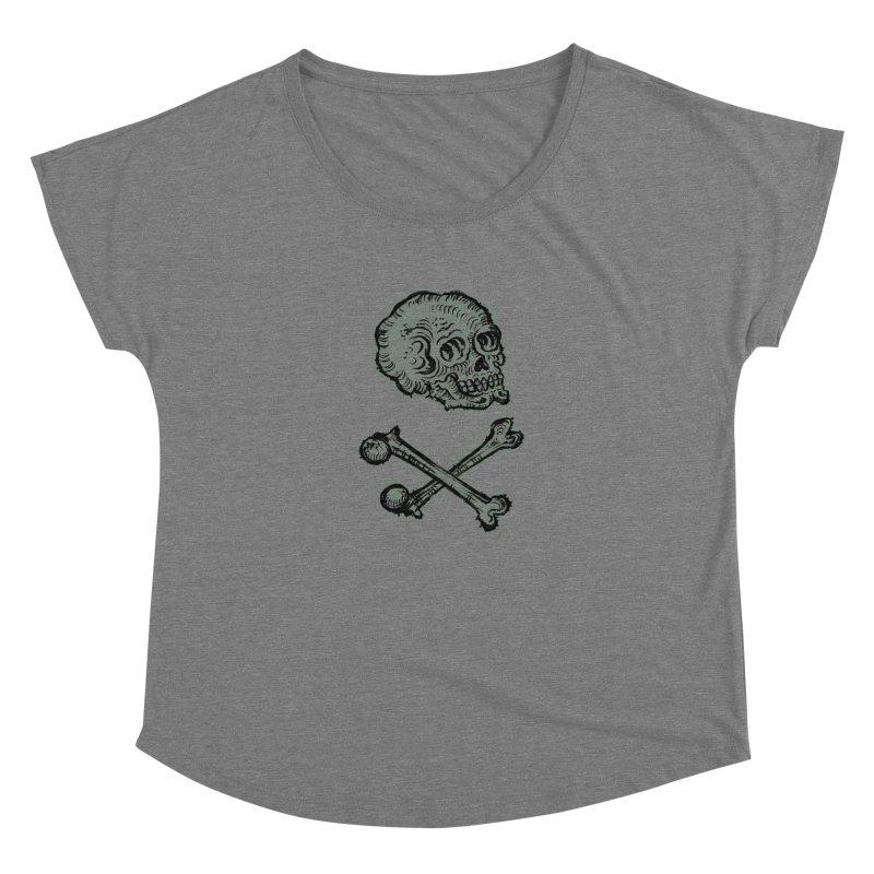 Skull and Crossbones Women's Scoop Neck by Matt Howse's Artist Shop