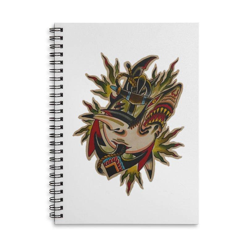 Shark and Anchor - Matt Howse Accessories Notebook by Matt Howse's Artist Shop