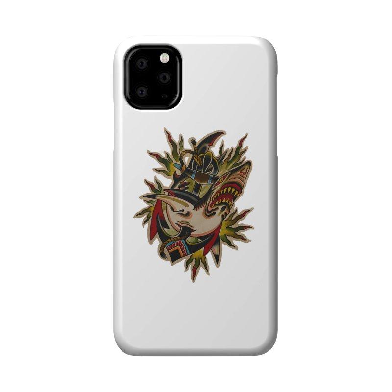Shark and Anchor - Matt Howse Accessories Phone Case by Matt Howse's Artist Shop