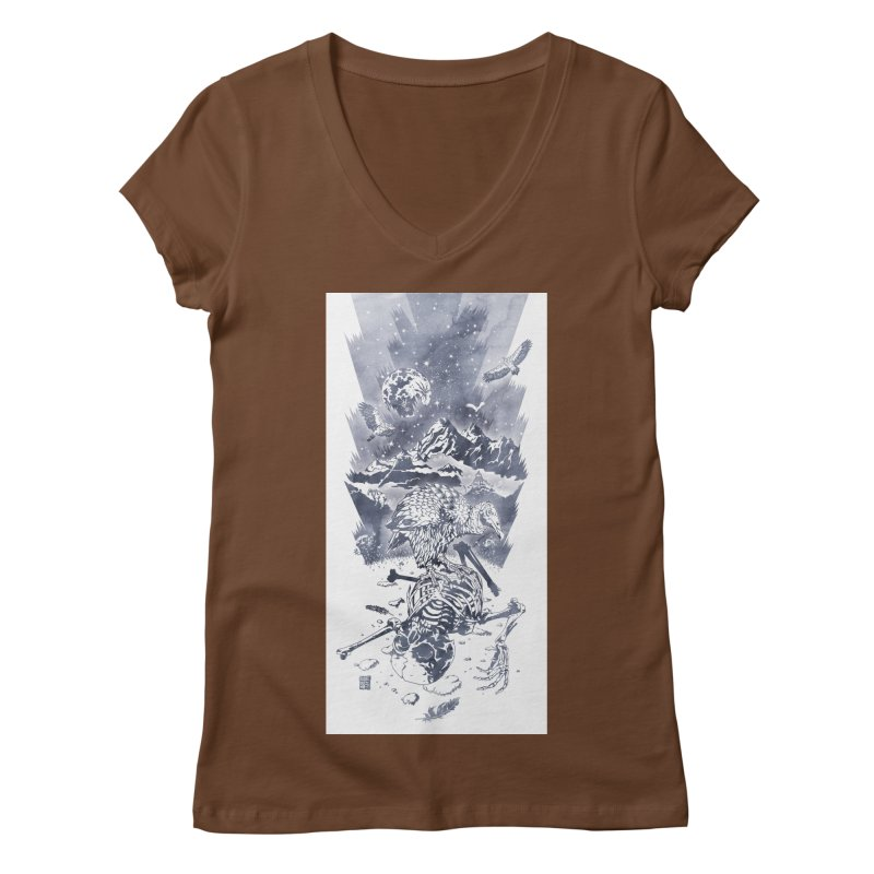 Nepal Women's V-Neck by Mattias Lundblad