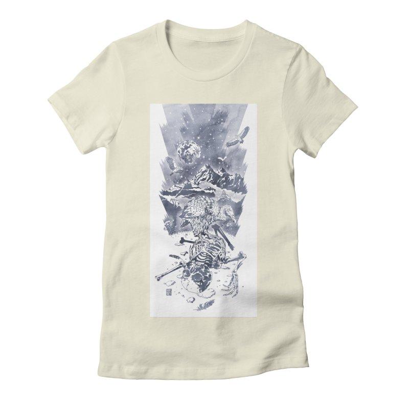 Nepal Women's Fitted T-Shirt by Mattias Lundblad