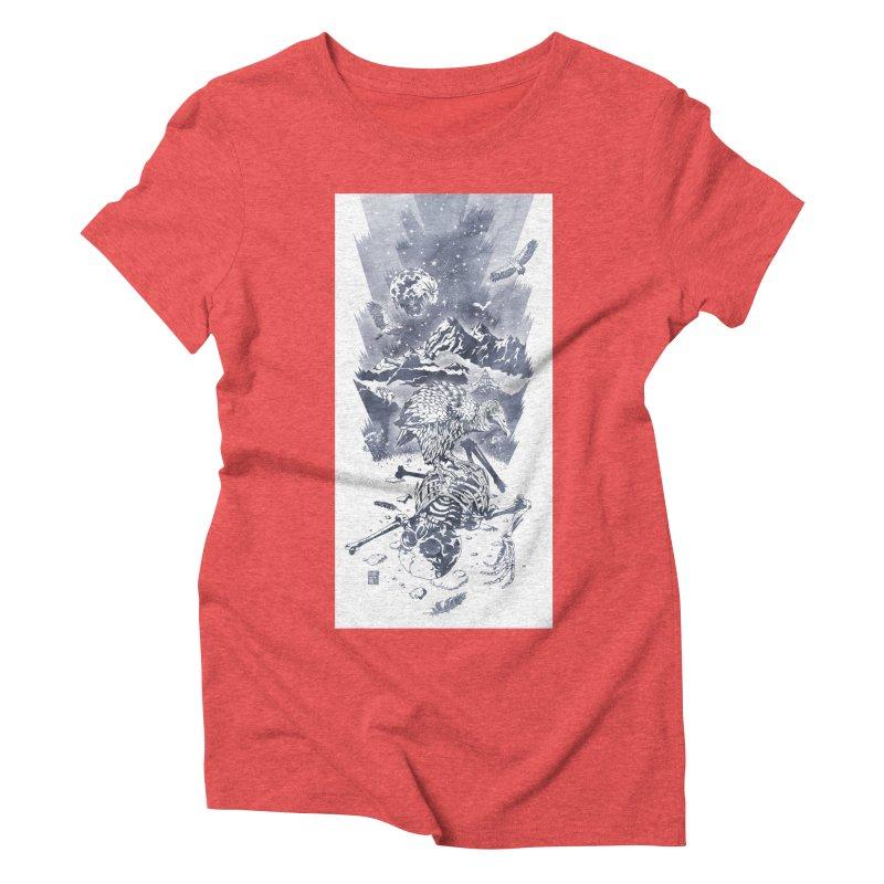 Nepal Women's Triblend T-shirt by Mattias Lundblad