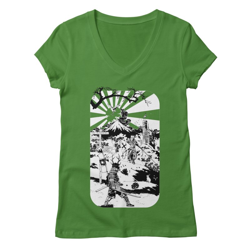 10th Crusade Women's V-Neck by Mattias Lundblad