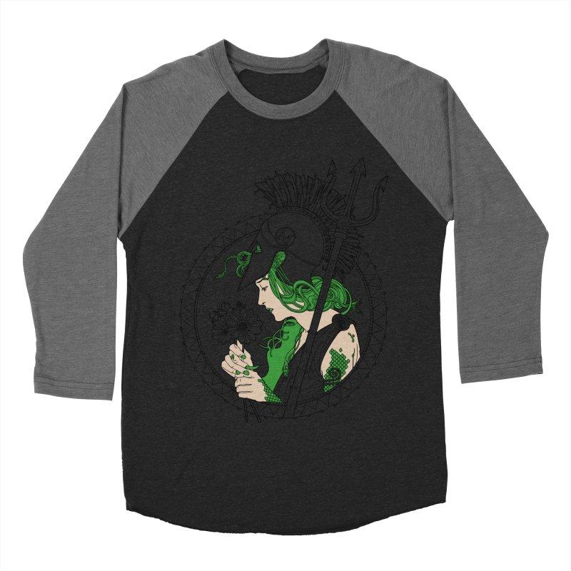 Medusa Women's Baseball Triblend T-Shirt by Mattias Lundblad