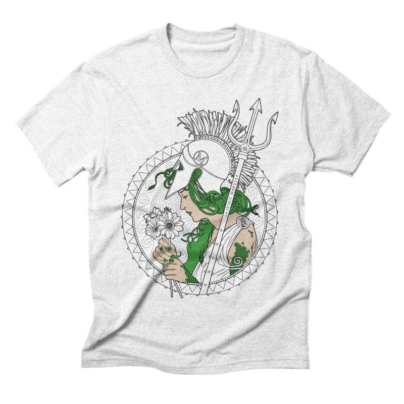 Medusa Men's Triblend T-shirt by Mattias Lundblad