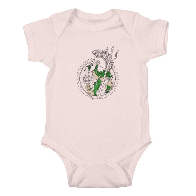 Medusa Kids Baby Bodysuit by Mattias Lundblad