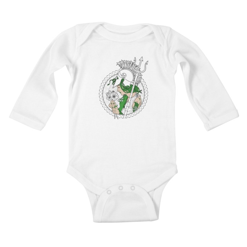 Medusa Kids Baby Longsleeve Bodysuit by Mattias Lundblad