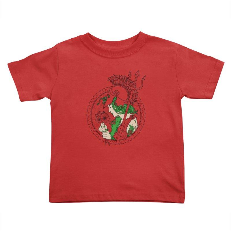 Medusa Kids Toddler T-Shirt by Mattias Lundblad