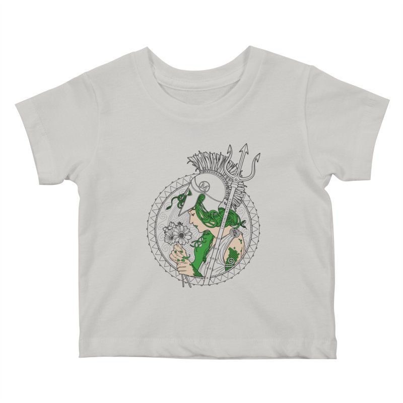Medusa Kids Baby T-Shirt by Mattias Lundblad