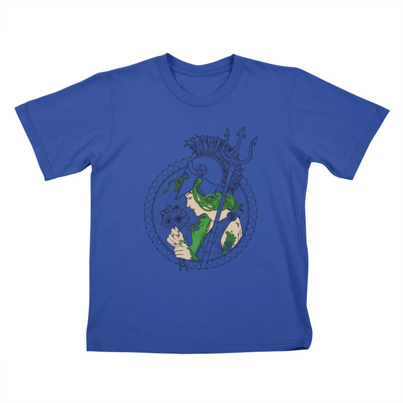 Medusa Kids T-shirt by Mattias Lundblad