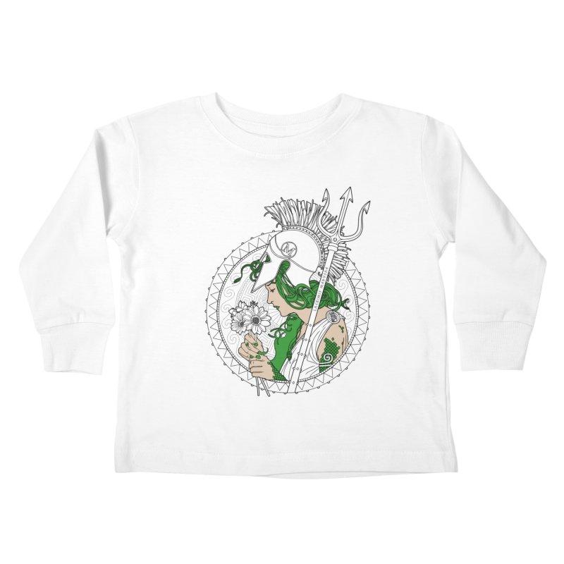 Medusa Kids Toddler Longsleeve T-Shirt by Mattias Lundblad
