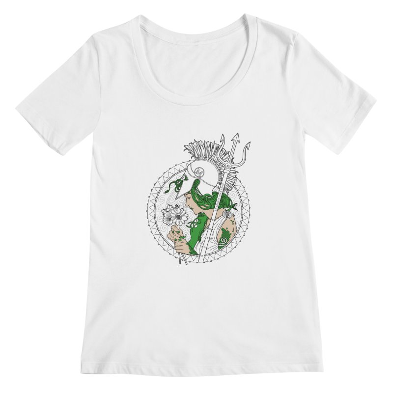 Medusa Women's Scoopneck by Mattias Lundblad