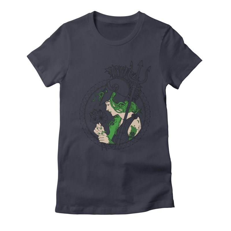 Medusa Women's Fitted T-Shirt by Mattias Lundblad