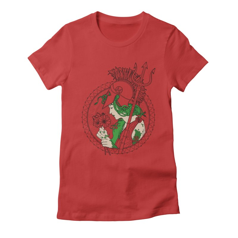 Medusa Women's Fitted T-Shirt by Mattias Lundblad