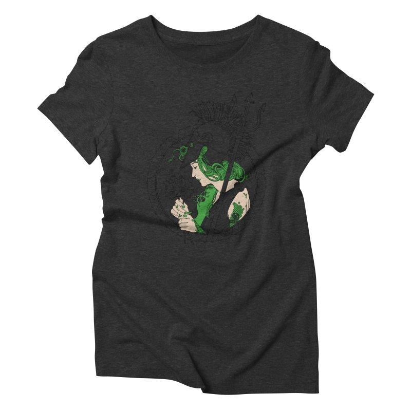 Medusa Women's Triblend T-shirt by Mattias Lundblad