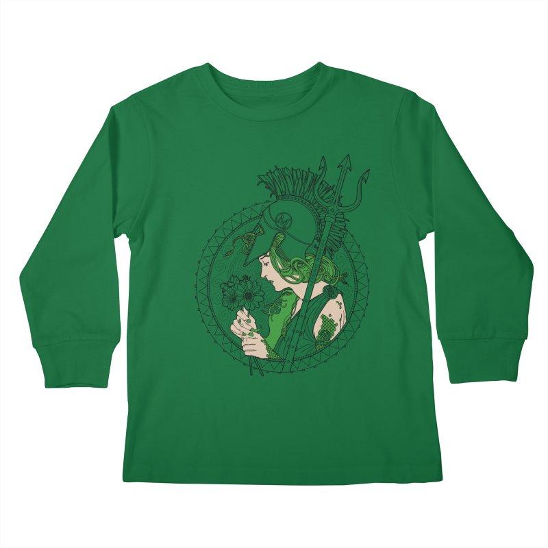 Medusa Kids Longsleeve T-Shirt by Mattias Lundblad