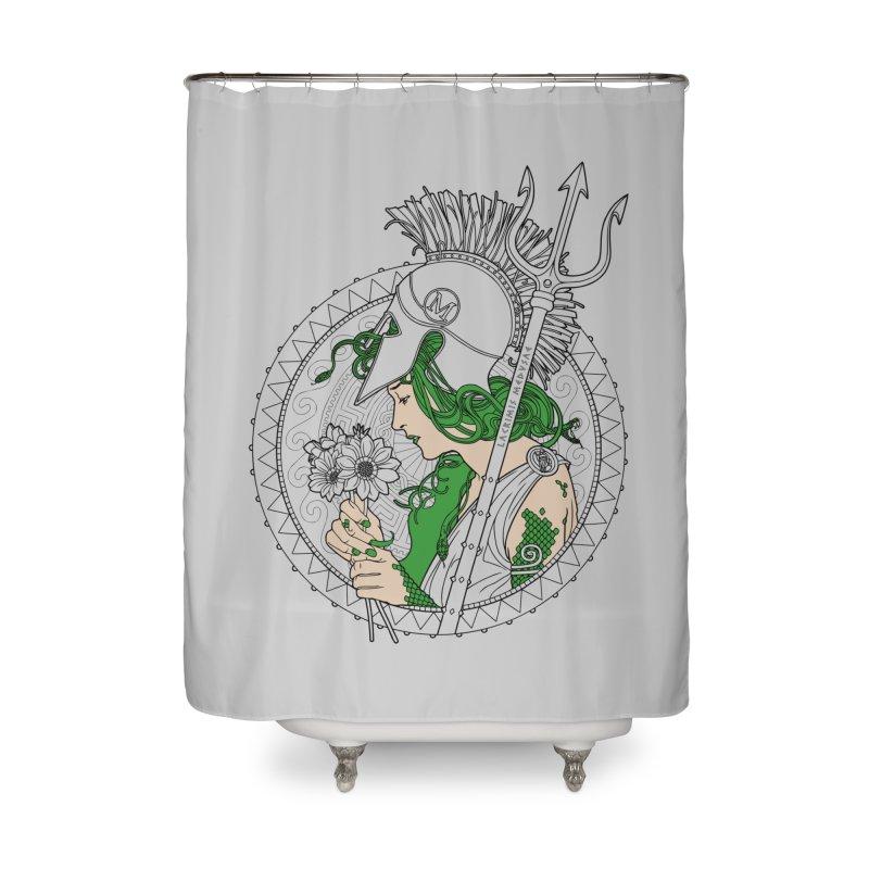 Medusa Home Shower Curtain by Mattias Lundblad