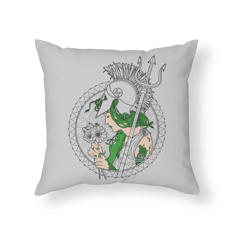 Medusa Home Throw Pillow by Mattias Lundblad