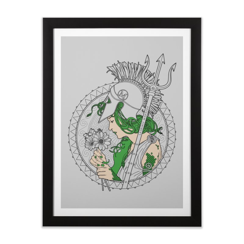 Medusa Home Framed Fine Art Print by Mattias Lundblad