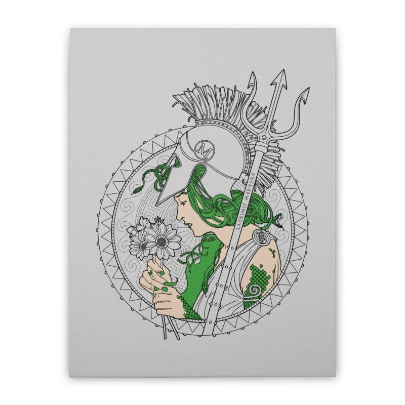 Medusa Home Stretched Canvas by Mattias Lundblad