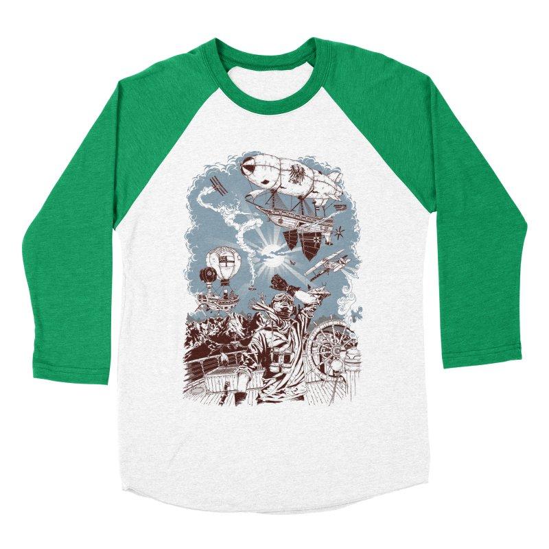Zeppelin Women's Baseball Triblend T-Shirt by Mattias Lundblad