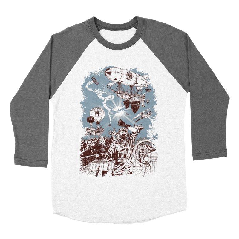 Zeppelin Men's Baseball Triblend T-Shirt by Mattias Lundblad