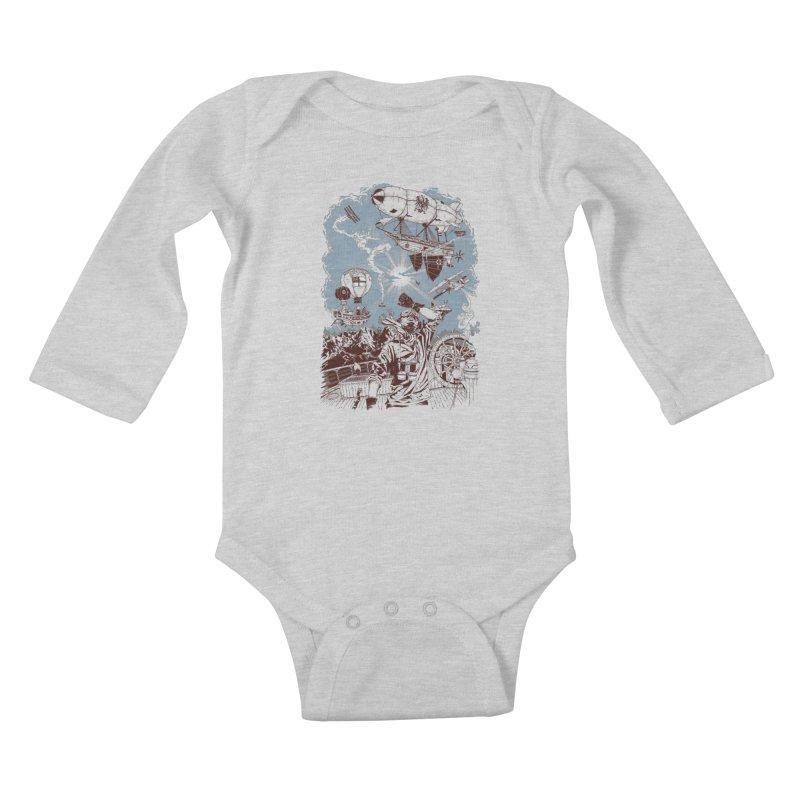 Zeppelin Kids Baby Longsleeve Bodysuit by Mattias Lundblad