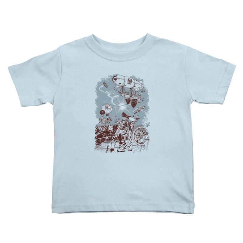 Zeppelin Kids Toddler T-Shirt by Mattias Lundblad