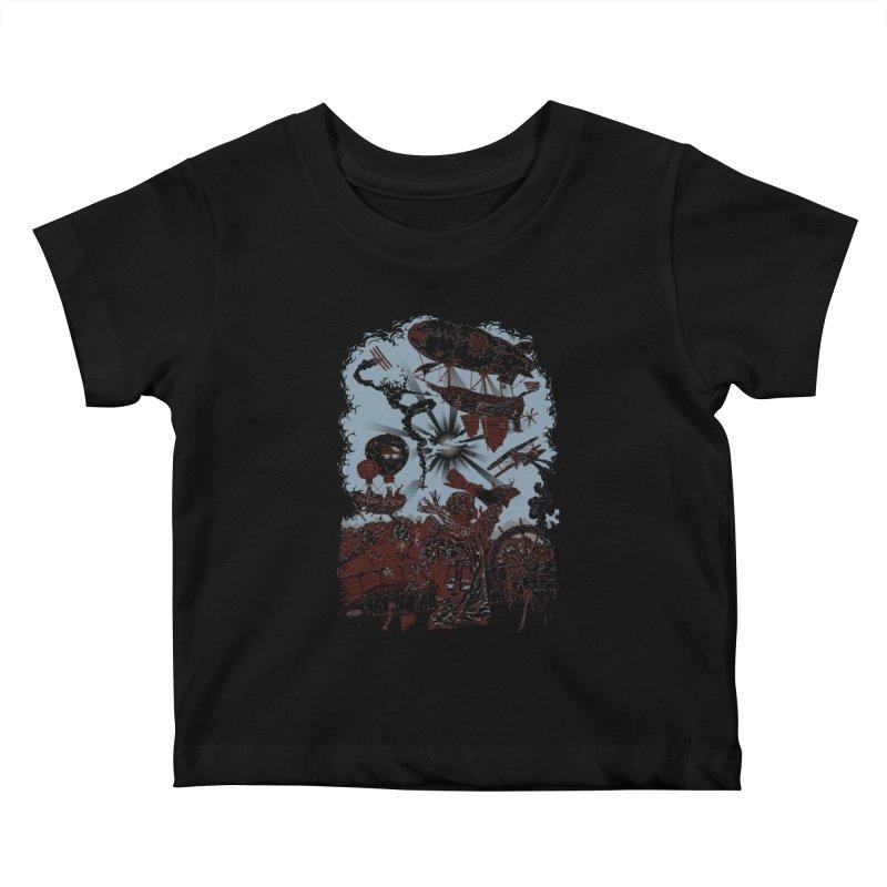 Zeppelin Kids Baby T-Shirt by Mattias Lundblad