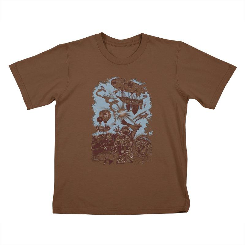 Zeppelin Kids T-Shirt by Mattias Lundblad