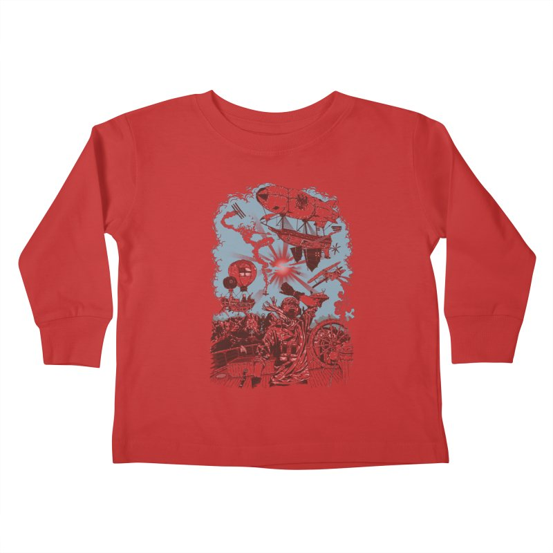 Zeppelin Kids Toddler Longsleeve T-Shirt by Mattias Lundblad