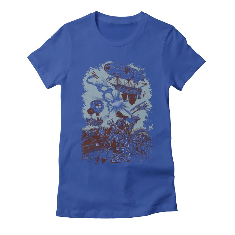 Zeppelin Women's Fitted T-Shirt by Mattias Lundblad