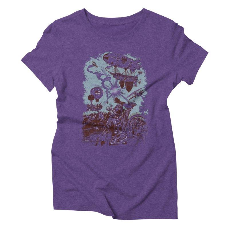 Zeppelin Women's Triblend T-shirt by Mattias Lundblad