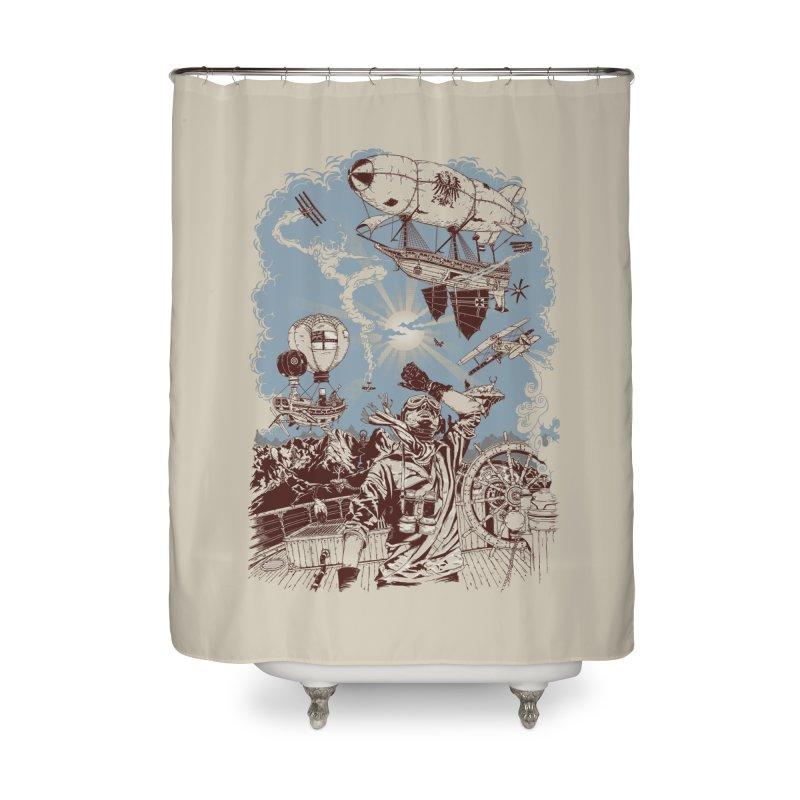 Zeppelin Home Shower Curtain by Mattias Lundblad