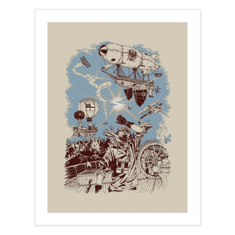Zeppelin Home Fine Art Print by Mattias Lundblad