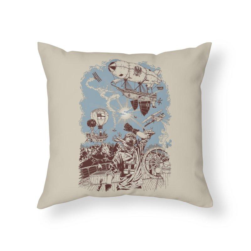 Zeppelin Home Throw Pillow by Mattias Lundblad