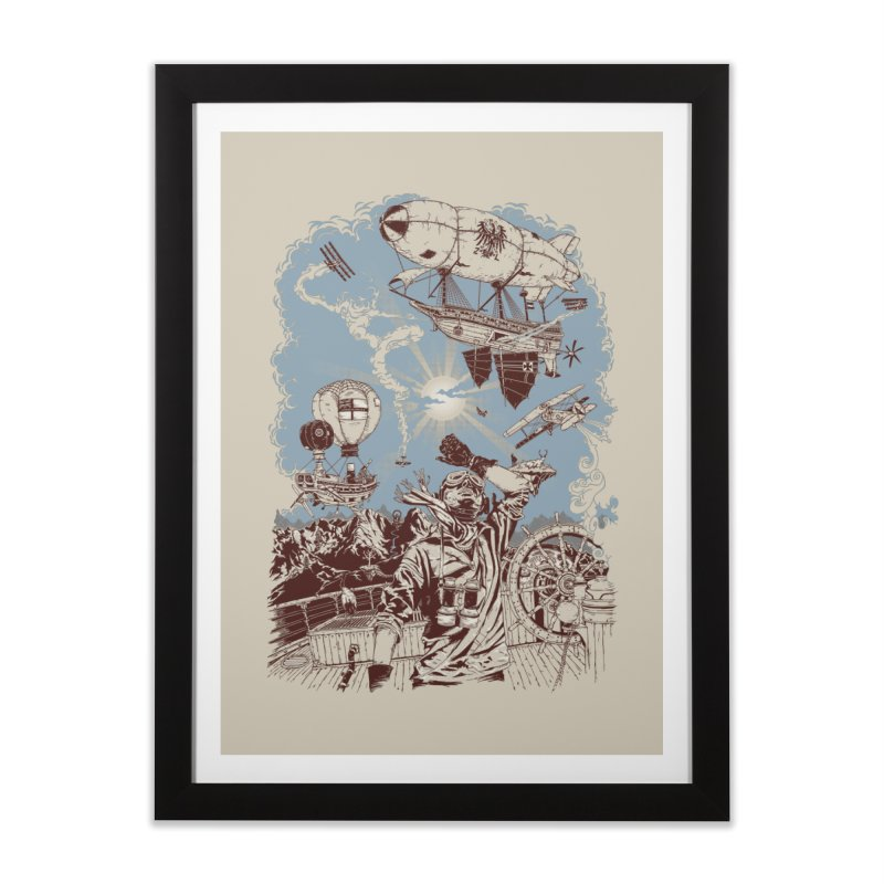 Zeppelin Home Framed Fine Art Print by Mattias Lundblad