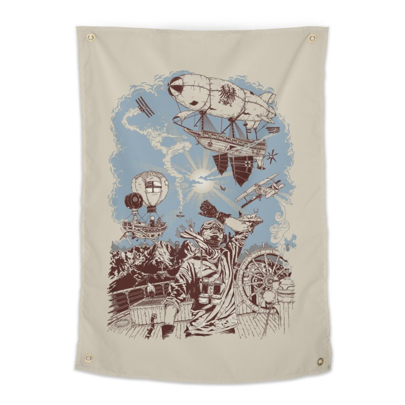 Zeppelin Home Tapestry by Mattias Lundblad