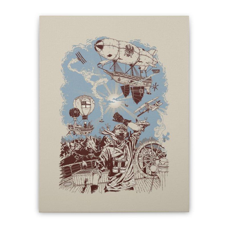 Zeppelin Home Stretched Canvas by Mattias Lundblad