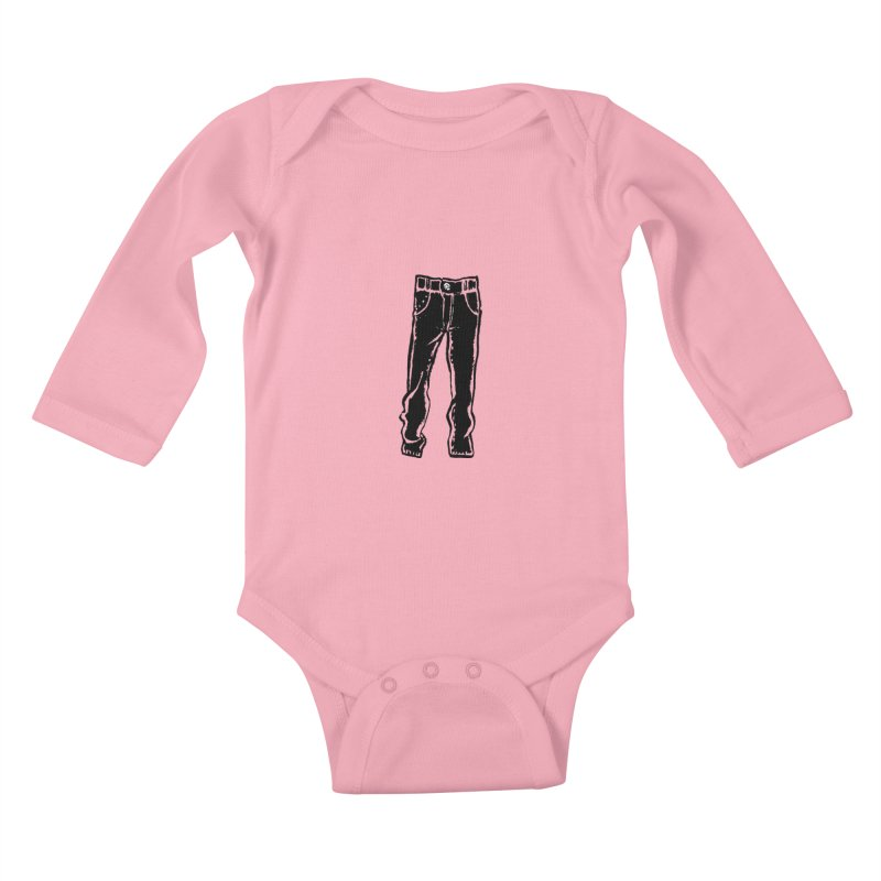 Dark Pants Kids Baby Longsleeve Bodysuit by mattiemac's Artist Shop