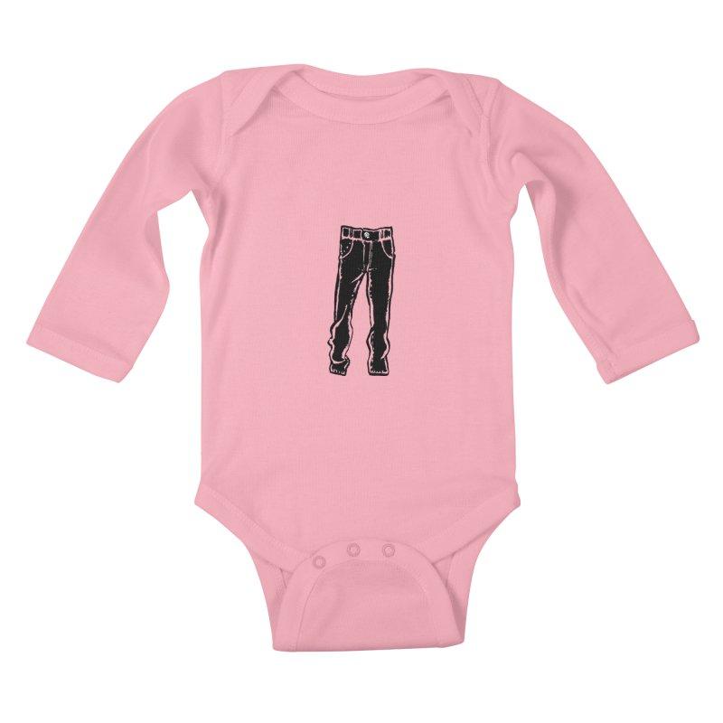 Dark Pants Kids Baby Longsleeve Bodysuit by Matt MacFarland